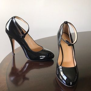 Charlotte Olympia Black Ankle Wrap Stiletto Pumps